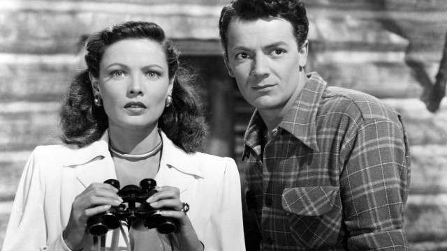Gene Tierney and Cornel Wilde are looking forward to a day of free screenings at the New York Film Festival