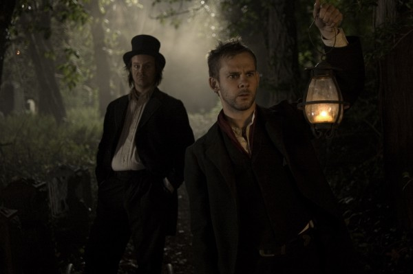 Willie Grimes (Larry Fessenden) and Arthur Blake (Dominic Monaghan) get involved in some dastardly doings in I SELL THE DEAD