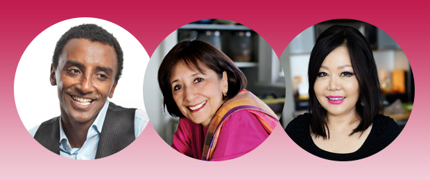 Marcus Samuelsson, Madhur Jaffrey, and Maangchi will join Leonard Lopate for discussions, demonstrations, and tastings at the Greene Space