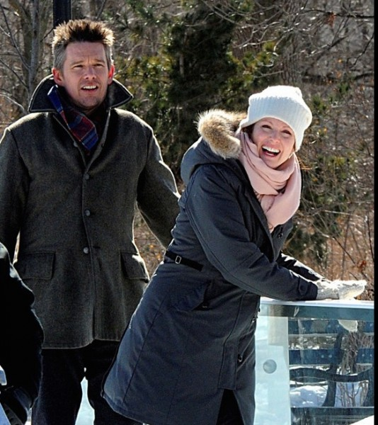 Ethan Hawke and Julianne Moore play a married couple whose relationship is on thin ice in MAGGIE'S PLAN