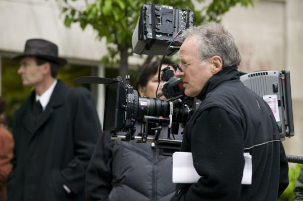 Michael Mann on the set of PUBLIC ENEMIES, which is part of BAM tribute to the writer-director-producer