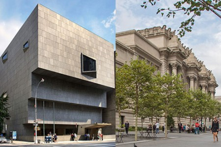 The Met Breuer photograph by Ed Lederman; The Met Plaza © MMA