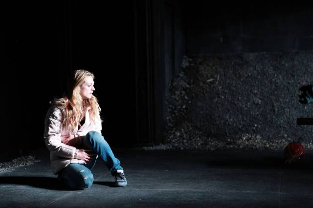 Marin Ireland gives a tour-de-force performance in IRONBOUND at the Rattlestick (photo by Sandra Coudert)