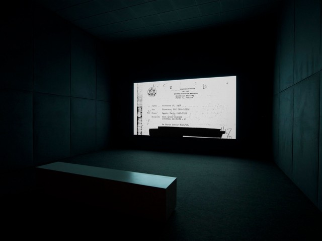 "Steve McQueen, ""End Credits,"" sequence of digitally scanned files, sound, continuous projection, 2012 (courtesy of the artist; Thomas Dane Gallery, London; and Marian Goodman Gallery)"
