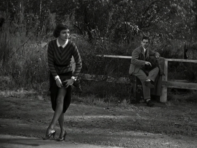 Claudette Colbert has a unique way to get to Brooklyn Bridge Park to see IT HAPPENED ONE NIGHT on July 28