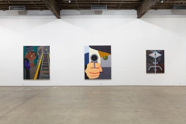 Nicole Eisenman show at Anton Kern takes direct aim at the viewer (photo courtesy Anton Kern Gallery)