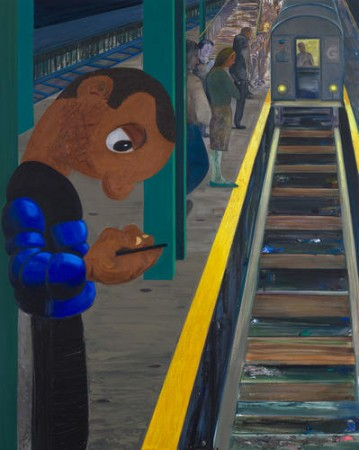 "Nicole Eisenman, ""Subway 2,"" oil on canvas, 2016 (courtesy Anton Kern Gallery)"