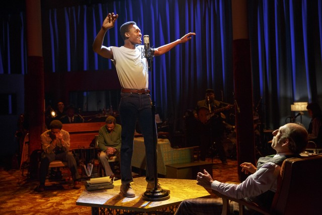 Marty (Ato Blankson-Wood) takes on his father during the civil rights era in THE TOTAL BENT (photo by Joan Marcus)