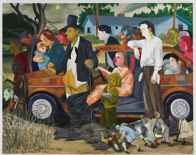 """The Triumph of Poverty,"" oil on canvas, 2009 (collection Bobbi and Stephen Rosenthal, New York; photo courtesy New Museum)"
