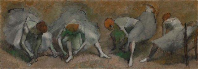 Edgar Degas, Frieze of Dancers, oil on fabric, ca. 1895, (the Cleveland Museum of Art, gift of the Hanna Fund)