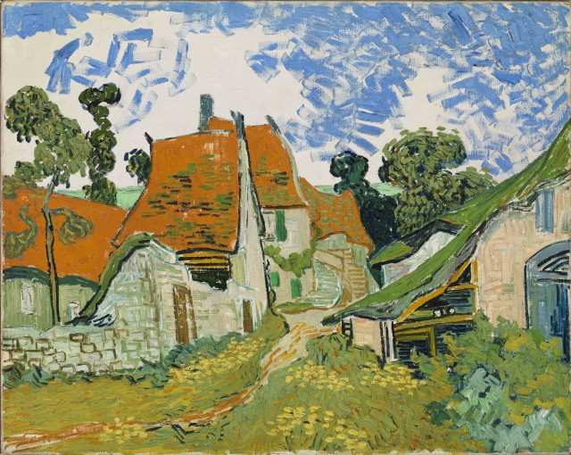 Vincent van Gogh, Street in Auvers-sur-Oise, oil on canvas, 1890 (Ateneum Art Museum, Finnish National Gallery, Helsinki, Collection Antell)