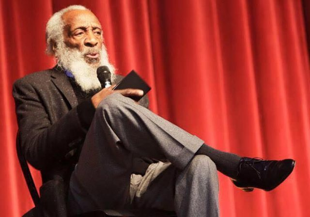 Dick Gregory will talk comedy and politics at the Black Spectrum Theatre on October 22