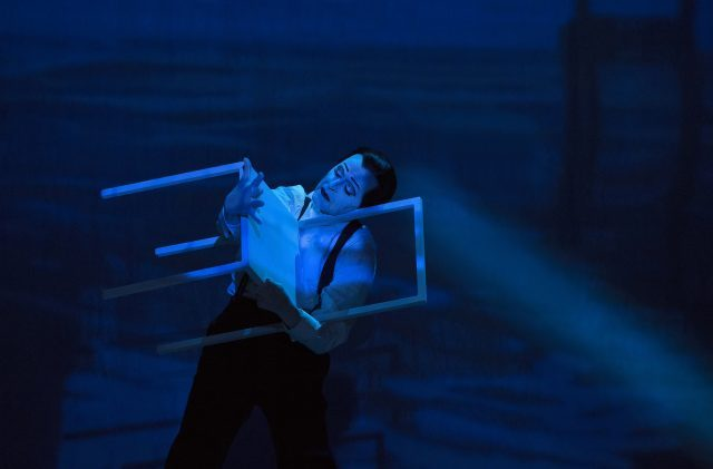 Mikhail Baryshnikov plays Vaslav Nijinsky in Robert Wilsons  LETTER TO A MAN at BAM (photo by Lucie Jansch)
