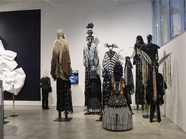 """Laura Anderson Barbata's """"Intervention: Indigo"""" references ritual and the slave trade (photo by twi-ny/mdr)"""