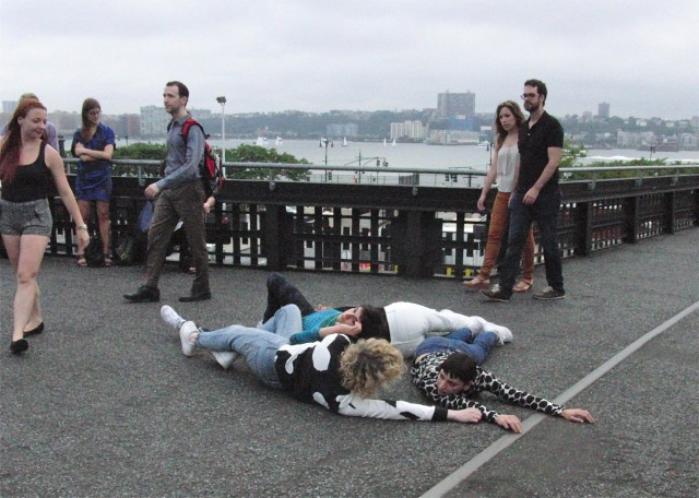 Maria Hassabi presented an informal preview of her latest work this summer on the High Line (photo by twi-ny/mdr)