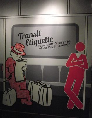 Transit Museum show in Grand Central explains the right way to ride subways and buses (photo by twi-ny/mdr)