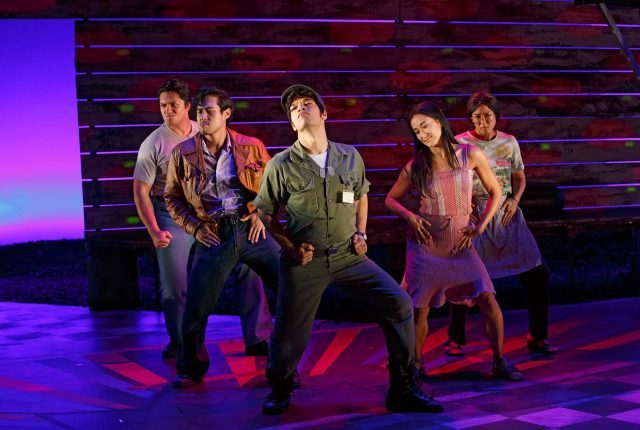 The cast of Qui Nguyen's VIETGONE struts its stuff in Manhattan Theatre Club production at City Center (photo by Carol Rosegg)