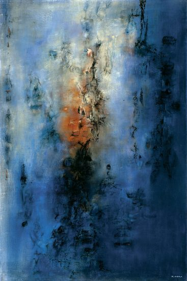 Zao Wou-Ki, Hommage à Chu Yun—05.05.55 (Homage to Chu Yun—05.05.55), oil on canvas, 1955 (private collection, Switzerland; photo by )