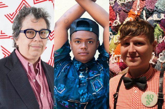 Sheila Pepe (photo by Rachel Stern), niv Acosta (photo by Amos Mac), and ; LJ Roberts
