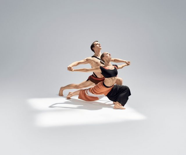 "Anne Souder and Lloyd Mayor perform in Martha Graham's ""Dark Meadow Suite."" (photo by Hibbard Nash Photography)"