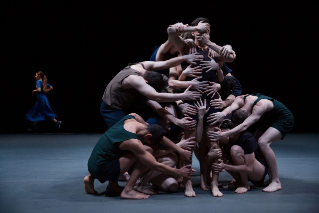 Batsheva Dance Company reach out and touch one another in LAST WORK  (photo by  Julieta Cervantes)