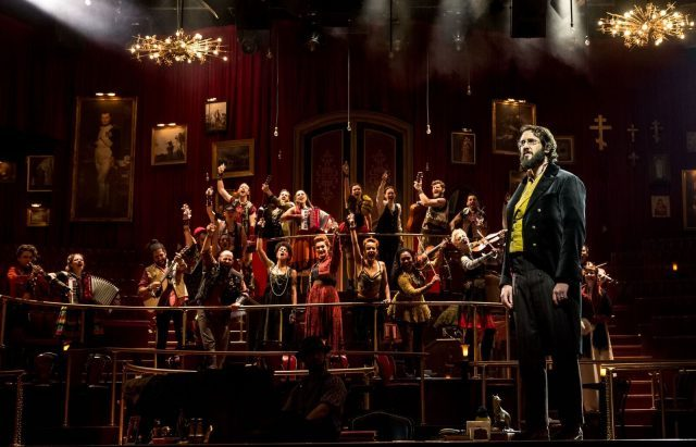 NATASHA, PIERRE & THE GREAT COMET OF 1812 is bigger than any one cast member, including Josh Groban as Pierre (photo by Chad Batka)