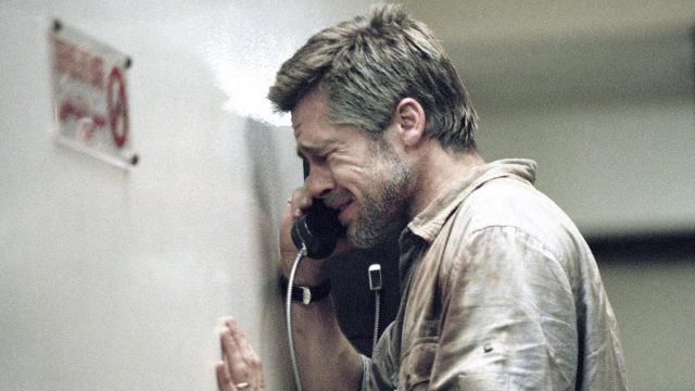 Richard (Brad Pitt) gets some bad news in Babel