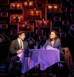 Phil Connors (Andy Karl) and Rita (Barrett Doss) pause for a special moment in smash Broadway musical (photo by Joan Marcus)