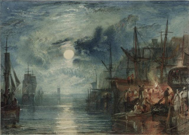 "Joseph Mallord William Turner, ""Shields, on the River Tyne,"" watercolor on paper, 1823 (© Tate, London 2016)"