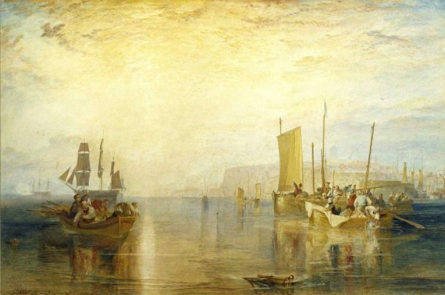 Joseph Mallord William Turner, Sun-Rise: Whiting Fishing at Margate, watercolor on paper, 1822 (private collection)