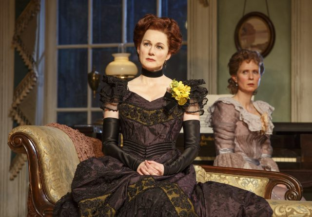 Laura Linney and Cynthia Nixon alternate roles as Regina and Birdie in MTC Broadway revival of Lillian Hellmans The Little Foxes (photo by Joan Marcus)