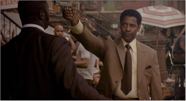 Frank Lucas (Denzel Washington) does whatever is necessary to succeed in Ridley Scotts
