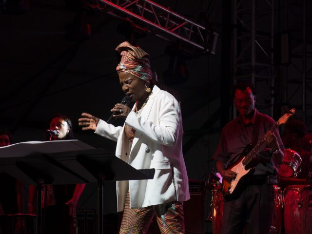 Angélique Kidjo performs Talking Heads' Remain in Light at Bonnaroo last month