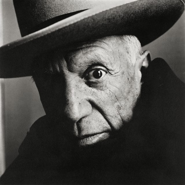 Irving Penn, Pablo Picasso at La Californie, Cannes, 1957, platinum-palladium print, 1985 (The Metropolitan Museum of Art, New York, Promised Gift of The Irving Penn Foundation / © The Irving Penn Foundation)