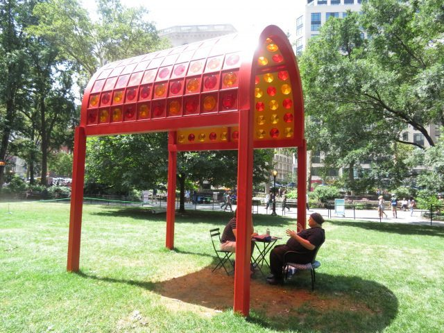 Poet CAConrad will be giving personalized (Soma)tic poetry rituals in Madison Square Park through July 23 (photo by twi-ny/mdr)