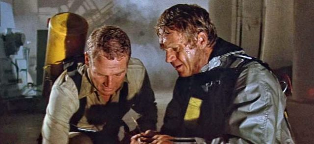 Paul Newman and Steve McQueen lead an all-star cast in The Towering Inferno