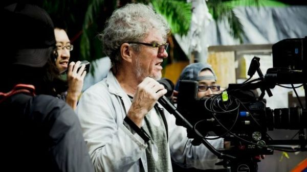 Christopher Doyle on the set of Hong Kong Trilogy: Preschooled, Preoccupied, Preposterous