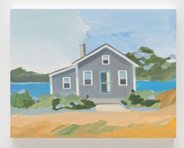 "Maureen Gallace, ""Summer House/Dunes,"" oil on panel, 2009"