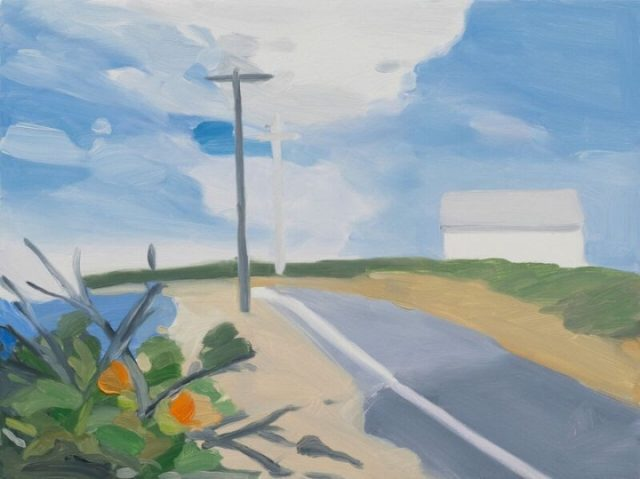 "Maureen Gallace, ""Surf Road,"" oil on panel, 2015"