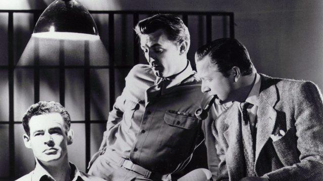 Robert Ryan, Robert Mitchum, and Robert Young star in Oscar-nominated social noir, Crossfire