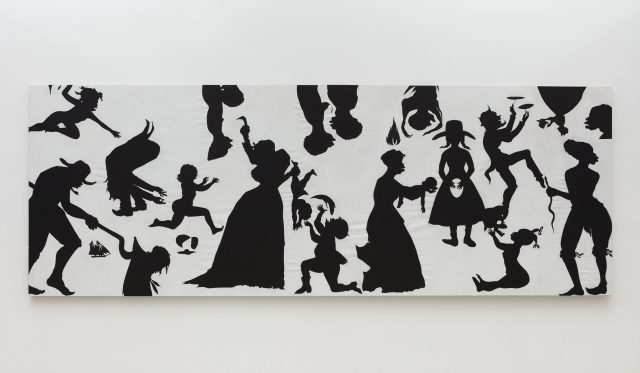 "Kara Walker, ""Slaughter of the Innocents (They Might be Guilty of Something),"" cut paper on canvas, 2017 (Photo: © Kara Walker / Courtesy of Sikkema Jenkins & Co., New York)"