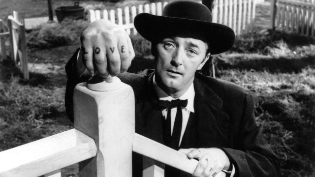 Robert Mitchum gets caught up in some dangerous dichotomies in The Night of the Hunter
