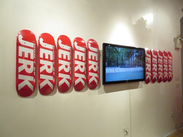 Barbara Kruger takes back her iconic graphic style in  pop-up skate shop as part of Performa 17 (photo by twi-ny/mdr)