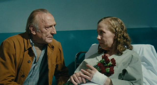 Marcel (André Wilms) and Arletty Marx (Kati Outinen) face life with a deadpan sense of humor in Aki Kaurismäki's Le Havre