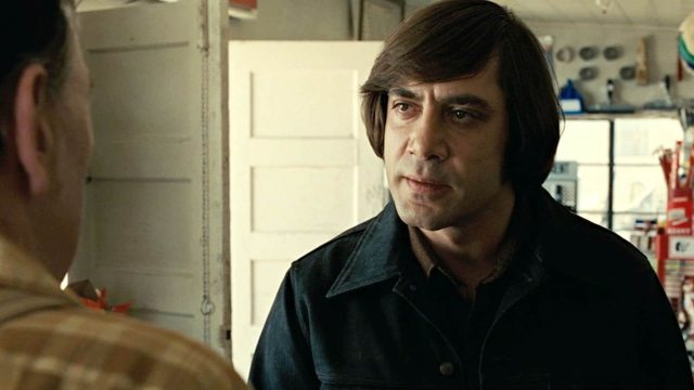 Javier Bardem stars as a killer for the ages in No Country for Old Men
