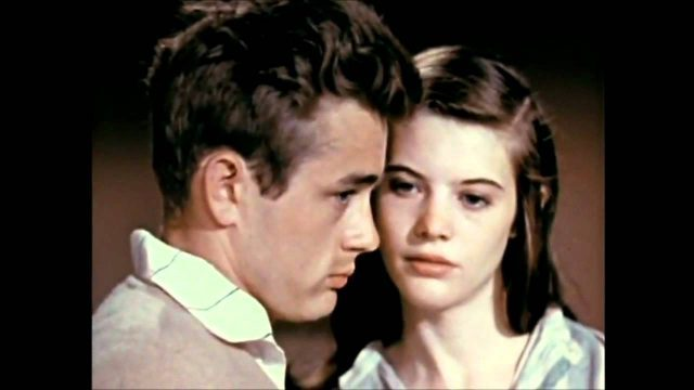 Cal Trask (James Dean) and Anne (Lois Smith) share a tender moment in Elia Kazan's adaptation of John Steinbeck's East of Eden