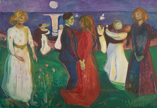 Edvard Munch, The Dance of Life, oil on canvas, 1925 (Munch Museum, Oslo / © 2017 Artists Rights Society (ARS), New York)