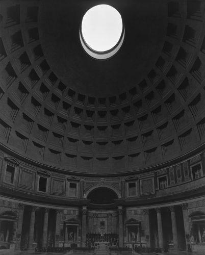 Hiroshi Sugimoto, Pantheon, Rome, gelatin silver print, 2015 (© Hiroshi Sugimoto.)