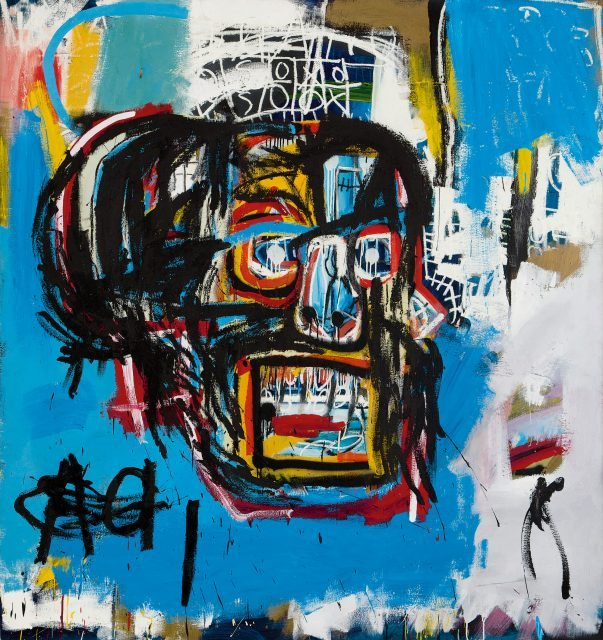 Jean-Michel Basquiat, Untitled, 1982. Acrylic, spray paint, and oilstick on canvas, Collection of Yusaku Maezawa. © Estate of Jean-Michel Basquiat. Licensed by Artestar, New York