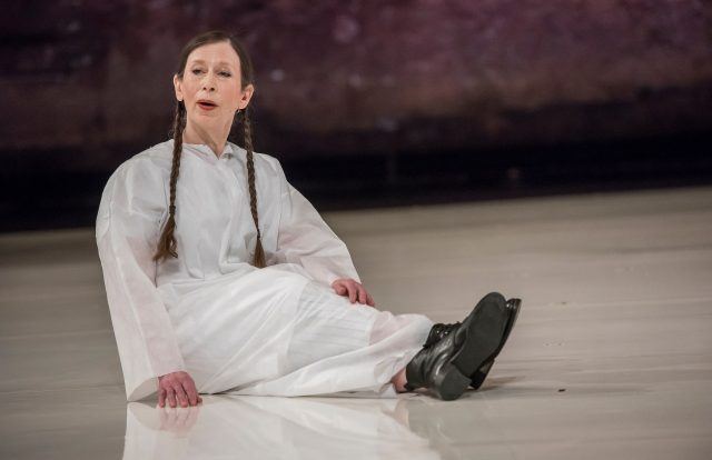 Meredith Monk gets closer to the earth in Cellular Songs at BAM (photo by Stephanie Berger)